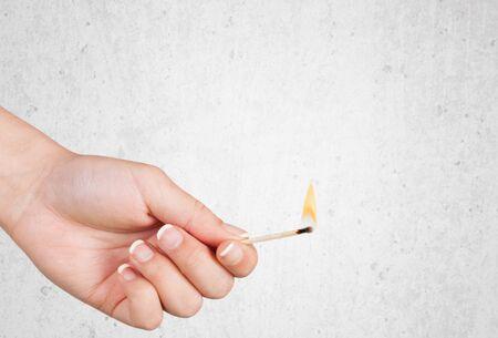glow stick: Match, closeup, isolated.