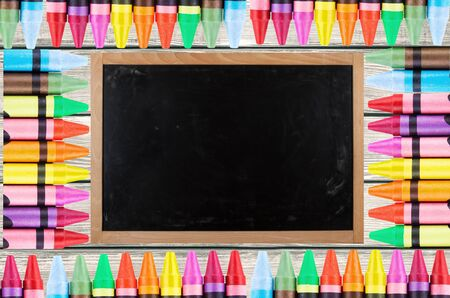 descriptive colors: Blackboard, Paint, Education. Stock Photo