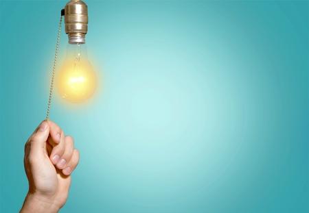 energy savings: Switch, Light Switch, Light Bulb.