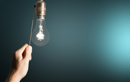 hands of light: Switch, Light Switch, Light Bulb.