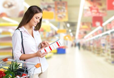 convenience store: Supermarket, Groceries, Shopping. Stock Photo