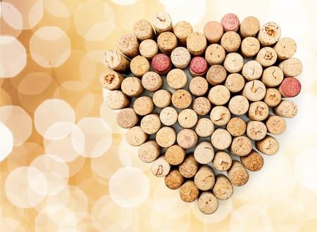 silhouette coeur: Cork, Vin, Coeur. Banque d'images