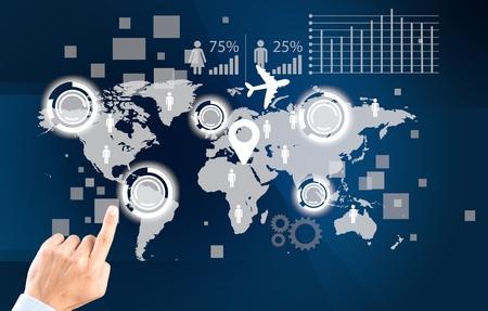 cadenas: Concepto, la globalización, icono.