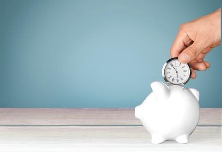 pieniądze: Czas, Oszczędności, czas to pieniądz. Zdjęcie Seryjne