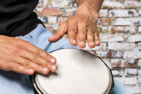 bongo drum: Drum, African Culture, Bongo. Stock Photo