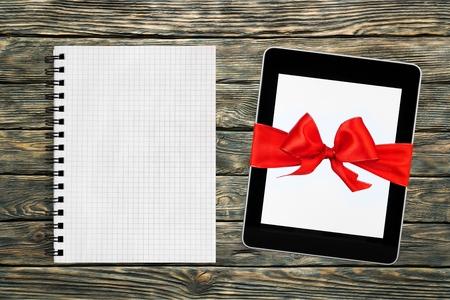 christmas gift: Ipad, Christmas, Gift. Stock Photo