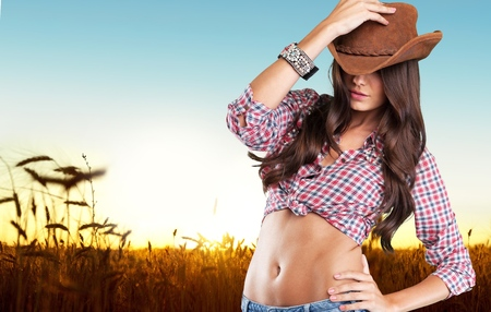 rodeo cowgirl: Rodeo, cowboy, western. Stock Photo