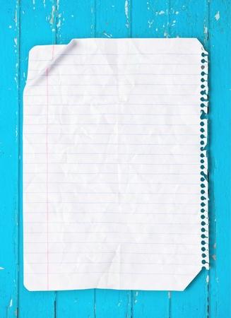 wrinkled: Lined Paper, Paper, Wrinkled.