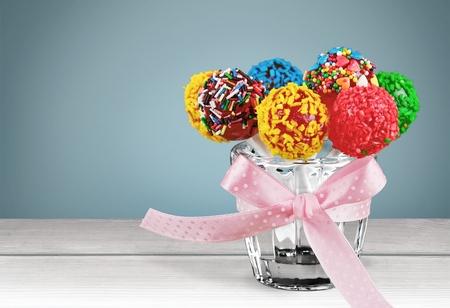 cake balls: Cake, pop, cake balls. Stock Photo