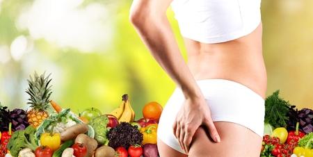 dieting: Overgewicht, voeding, dieet. Stockfoto