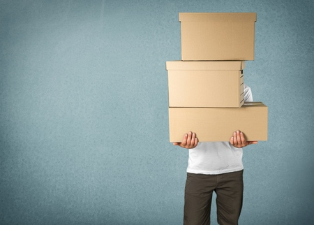 Box, Hauswechsel, Bürowechsel. Standard-Bild - 42185359