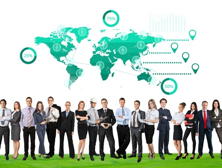 communications: African, analysis, asian. Stock Photo