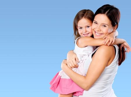 Mother, daughter, bio. Stock Photo