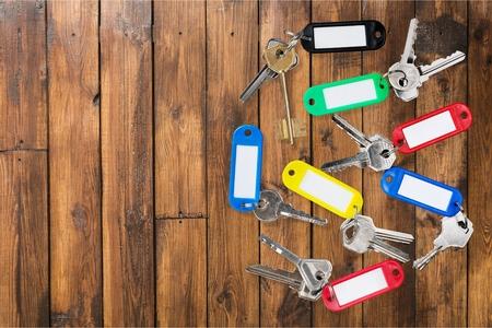 key ring: Key Ring, Key, Bunch. Stock Photo