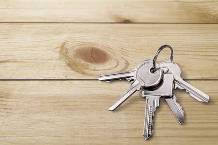 metall: Key, door, metall. Stock Photo