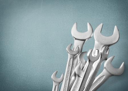 fontaneria: Herramientas, caja de herramientas, abierta.