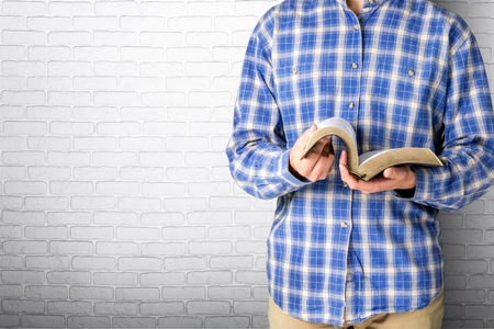 student reading: Book, Reading, Bible.
