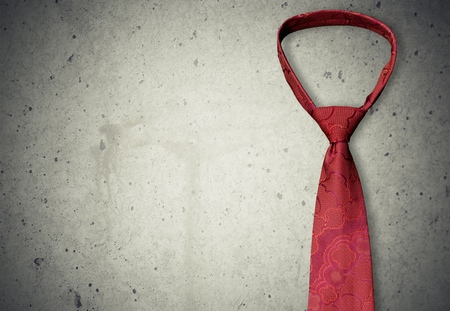 Necktie, Isolated, Red.