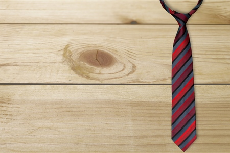 necktie: Necktie, Isolated, Red.