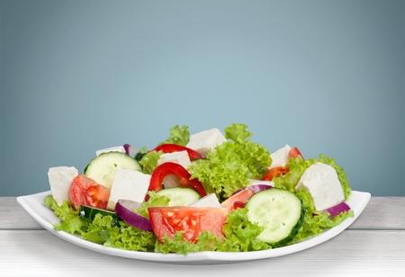 greek salad: Salad, greek, fresh.