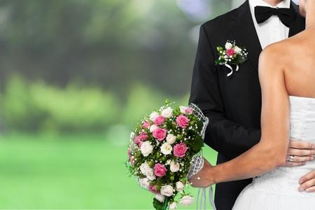 Bruiloft, bruid, bruidegom.