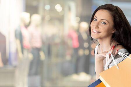 clothing stores: Shopping, Women, Retail. Stock Photo