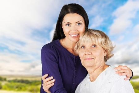 80 plus years: Asian Ethnicity, Senior Adult, Mother. Stock Photo