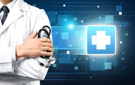 equipos medicos: Doctor, paciente, médico. Foto de archivo