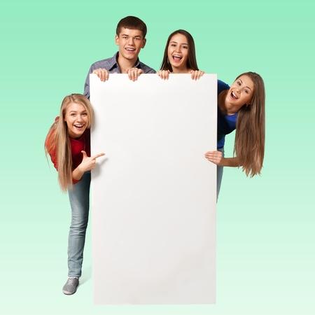 school teens: Sign, Student, College Student.