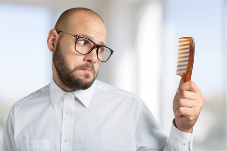 Problem, hair, bald. Stock Photo - 42198401