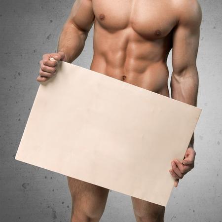 sex symbol: Men, Naked, Sex Symbol. Stock Photo