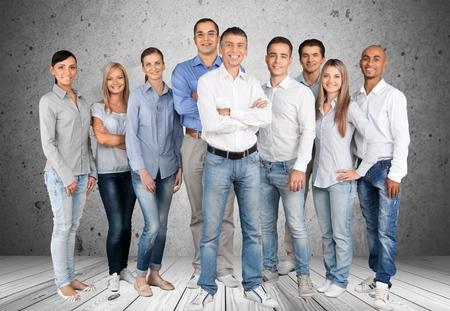 ležérní: Lidé, skupina lidí, podnikání. Reklamní fotografie