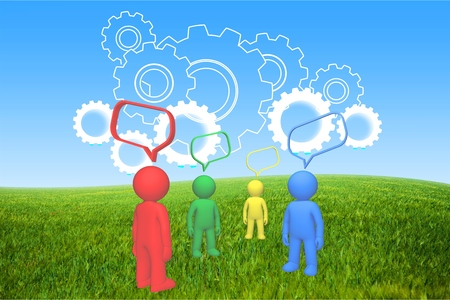 chat room: Discussion, Talking, Community. Stock Photo