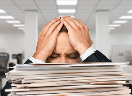 emotional stress: Emotional Stress, Paper, Stack. Stock Photo