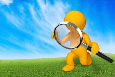Magnifying Glass, People, Three-dimensional Shape.