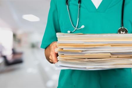 Healthcare And Medicine, Paperwork, Doctor.