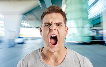 rage: Anger, rage, shout.
