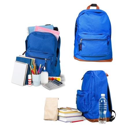 red bag: Backpack, bag, school. Stock Photo