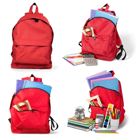 Backpack, bag, school. Stock Photo