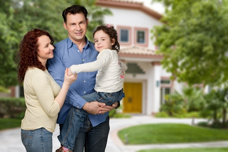 residential house: Father, day, Family. Stock Photo