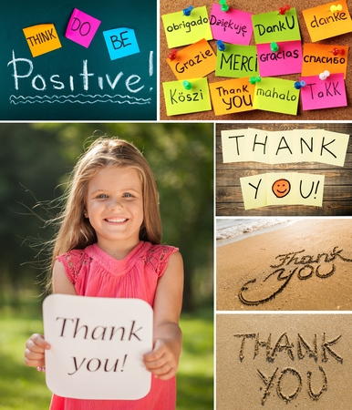 Child, Thank You, Cheerful. Stock Photo - 42203667