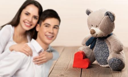 heterosexual: Heterosexual Couple, Young Couple, Cheerful. Stock Photo