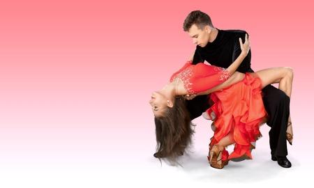 bailando salsa: Bailar Salsa, Baile, Pareja. Foto de archivo