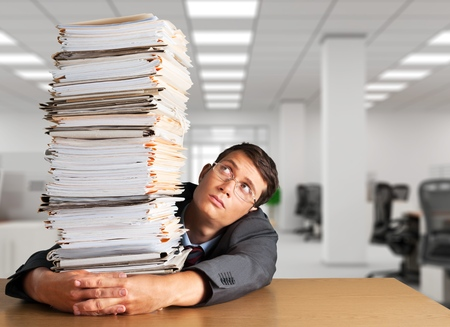 office physical pressure paper: Stack, Red Tape, Paper.