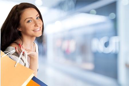 lifestyle shopping: Shopping, Women, Retail. Stock Photo
