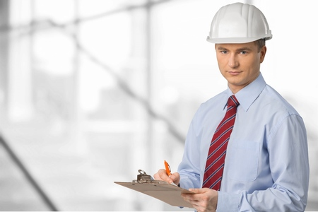 Clipboard, Inspector, Quality Control. Stock Photo