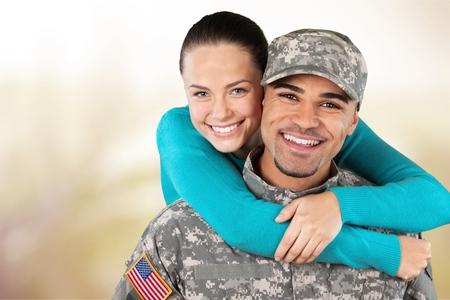 Militar, familia, Fuerzas Armadas. Foto de archivo - 42205158