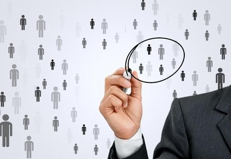 organization chart: Crm, Organization, Customer. Stock Photo