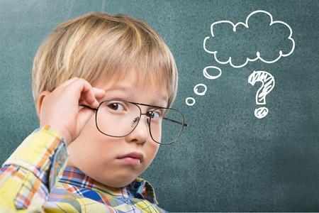 matematica: Kid, piense, matem�ticas.