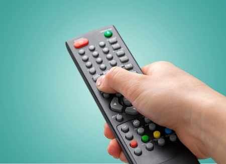 Mando a distancia, televisión, centro de entretenimiento.